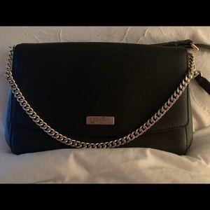 Black Kate Spade Shoulder Bag with Gold Chain